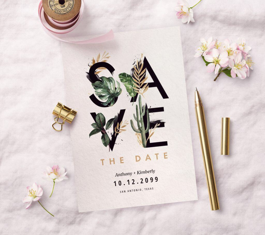 save the date wedding designs