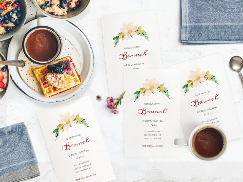 Brunch party invitation ideas