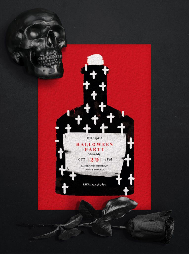 Potion Halloween party invitation design