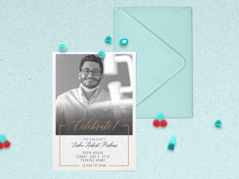 dentist card graduation