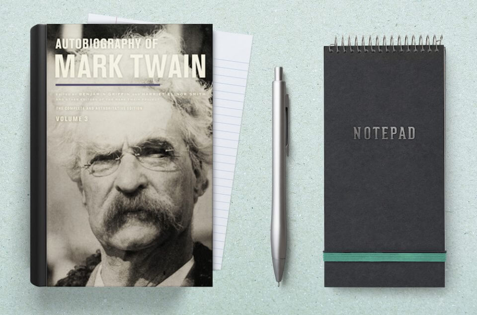 Autobiography of mark twain with notebook