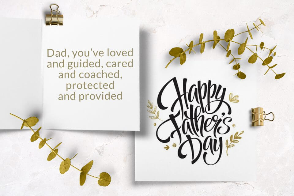 60+ Happy Father's Day Wishes & Messages elegant father's day card