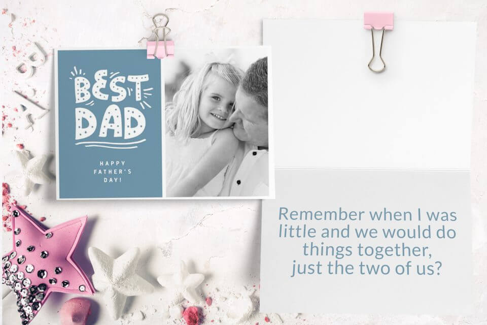 60+ Happy Father's Day Wishes & Messages best dad photo card