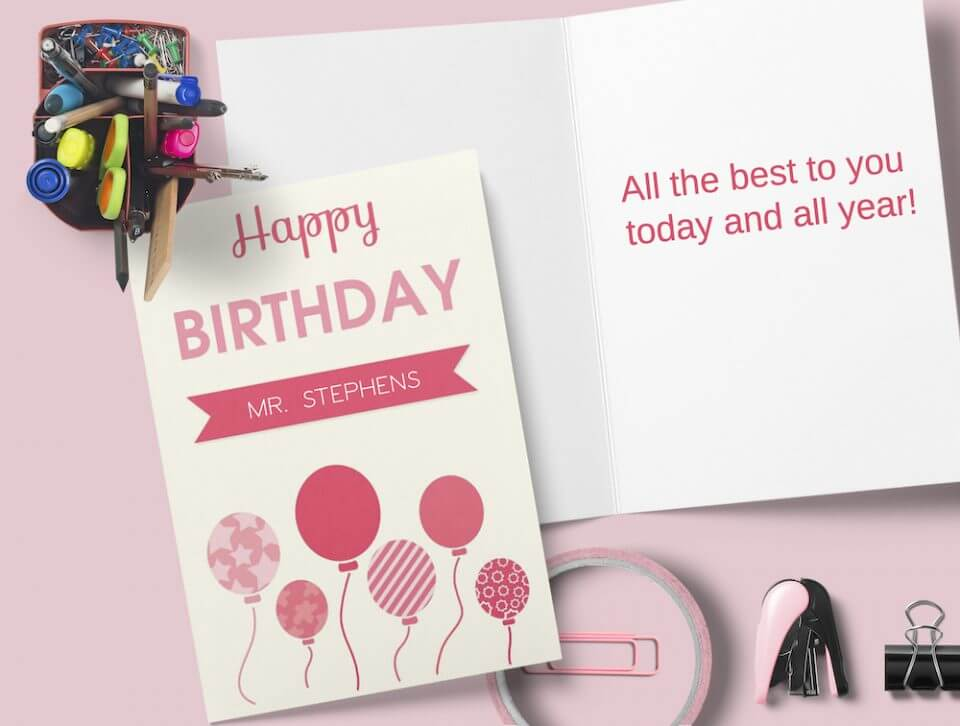 Birthday Wishes & Card Messages For Everyone pink balloons