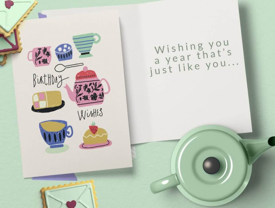 Birthday Wishes & Card Messages For Everyone tea time