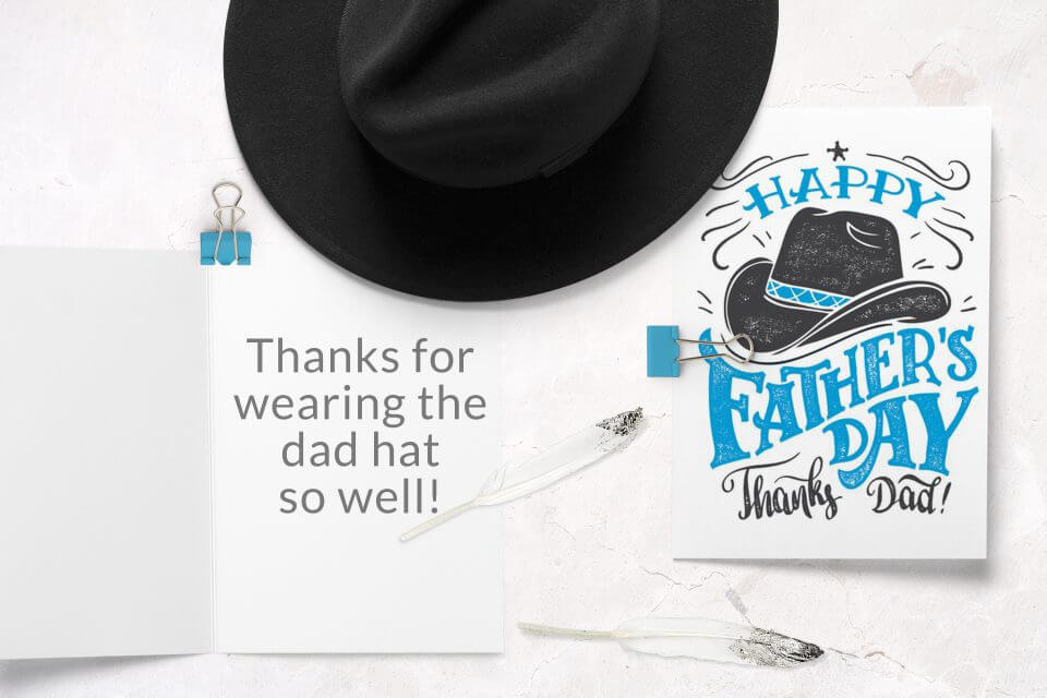60+ Happy Father's Day Wishes & Messages cowboy hat