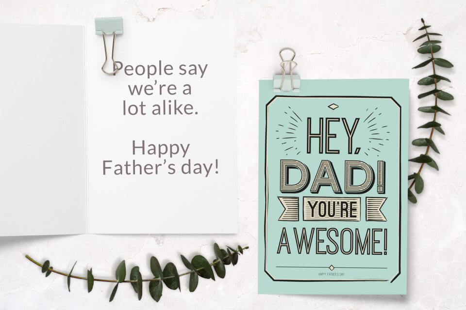 60+ Happy Father's Day Wishes & Messages awesome dad card