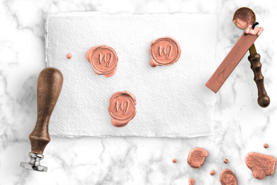 Wax seal for wedding invitations