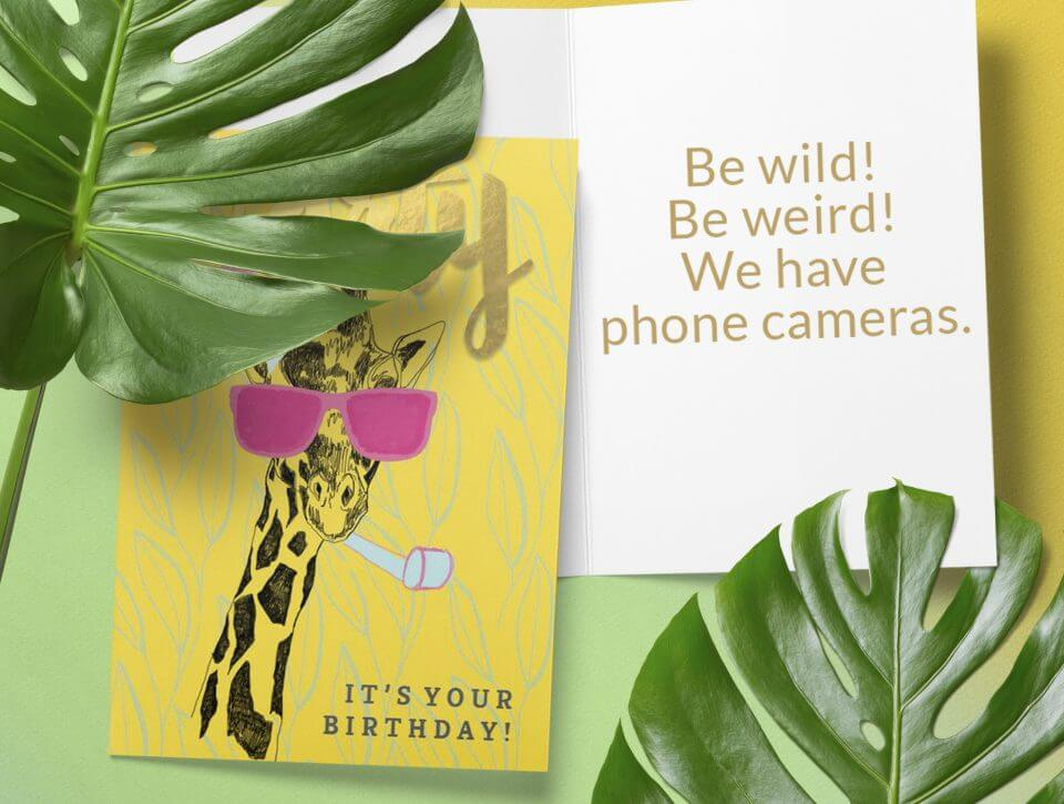 Birthday Wishes & Card Messages For Everyone funny card giraffe