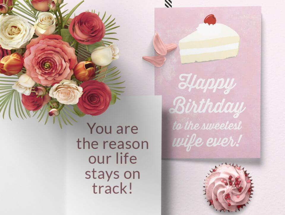 Birthday Wishes & Card Messages For Everyone sweet wife cake