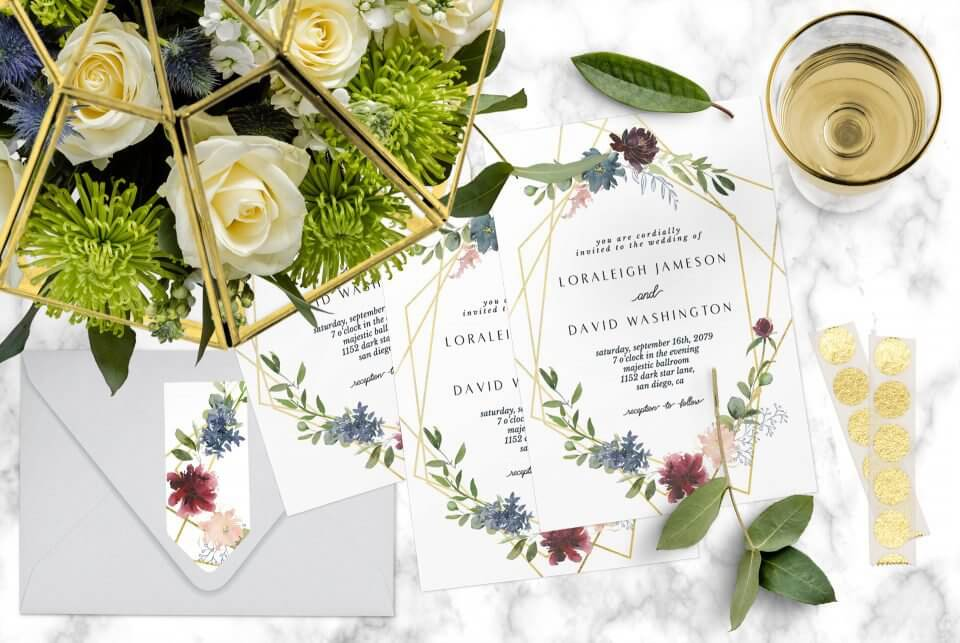 Wedding invitations scene