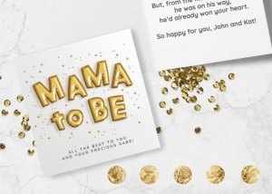 Mama to be new baby card