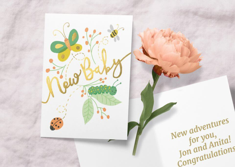 Baby buggies new baby card