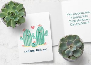 Welcome, little one new baby card