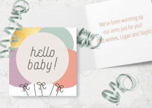 Hello baby new baby card