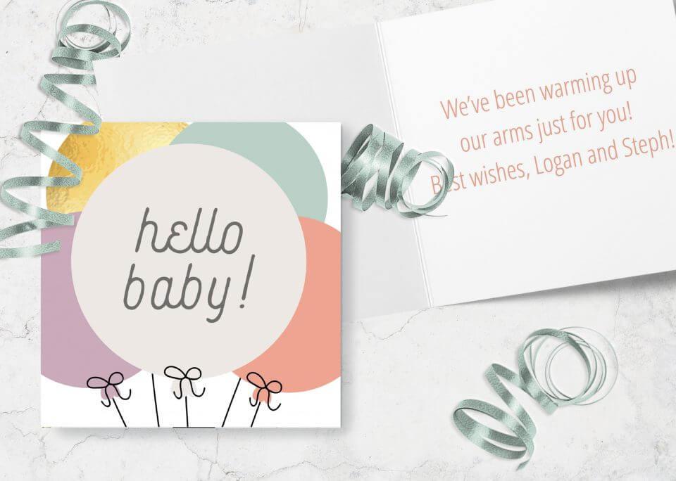 Hello baby new baby card