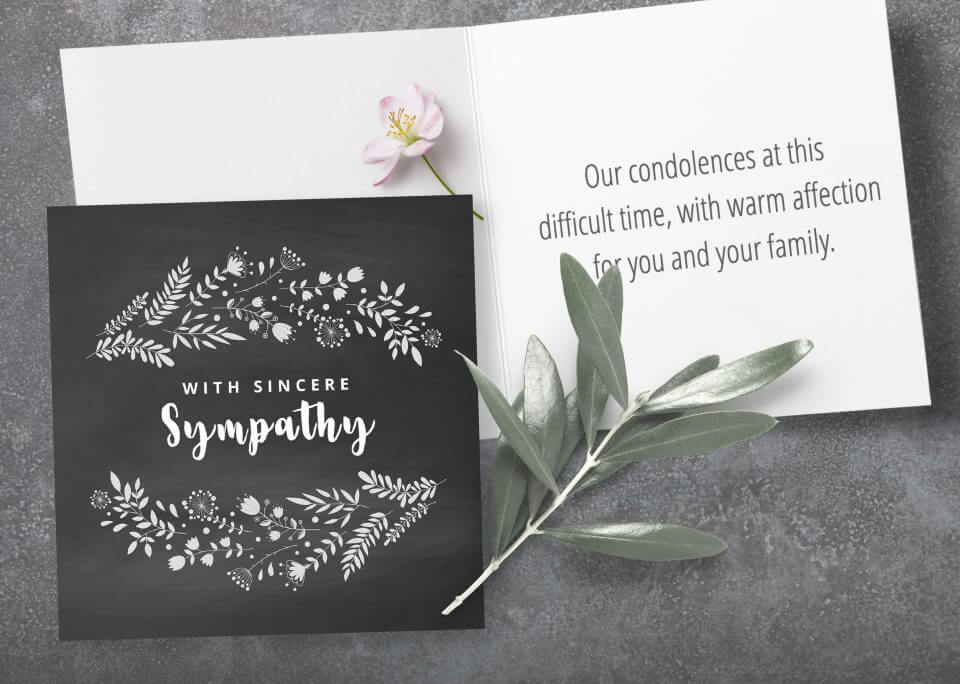 With sincere sympathy card