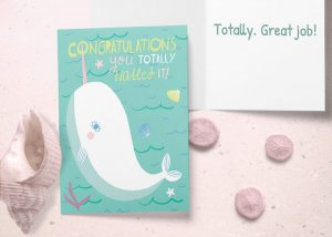Narwal congratulations card