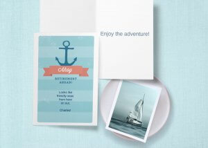 'Ahoy! retirement ahead' card