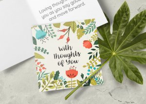 With thoughts of you card