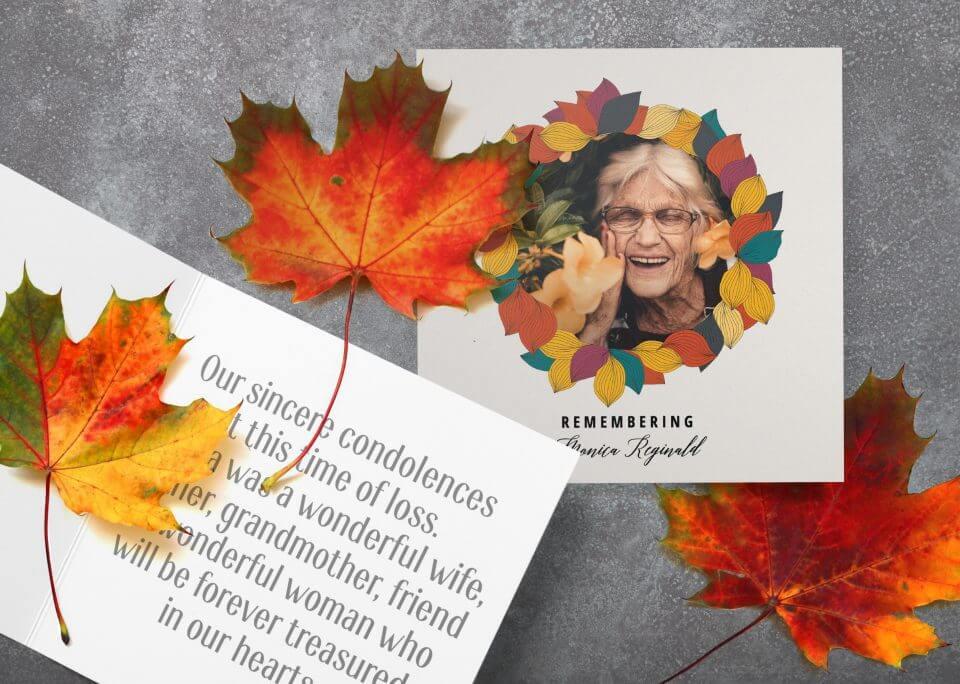 Fall sympathy card