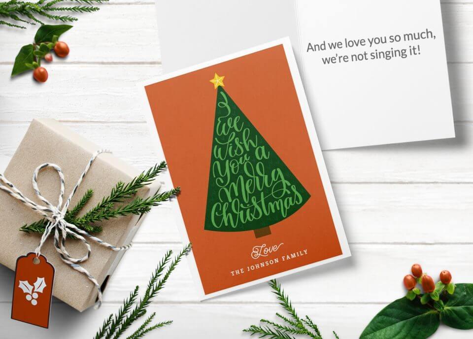 We Wish You a Merry Christmas! - Christmas card