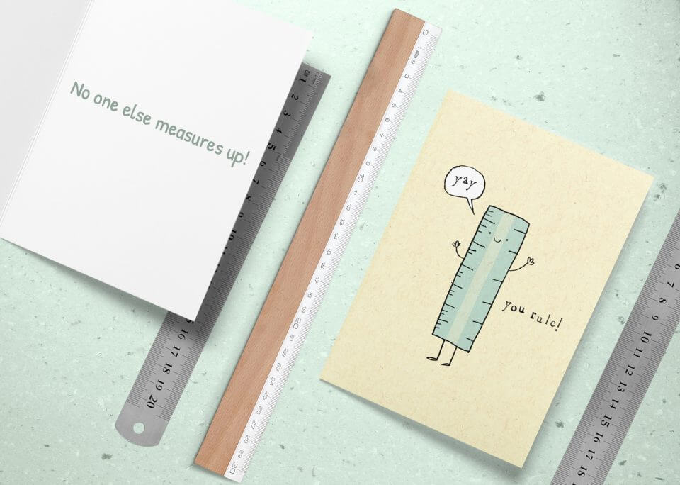 50 Congratulations Wishes & Quotes no one measures up ruler card