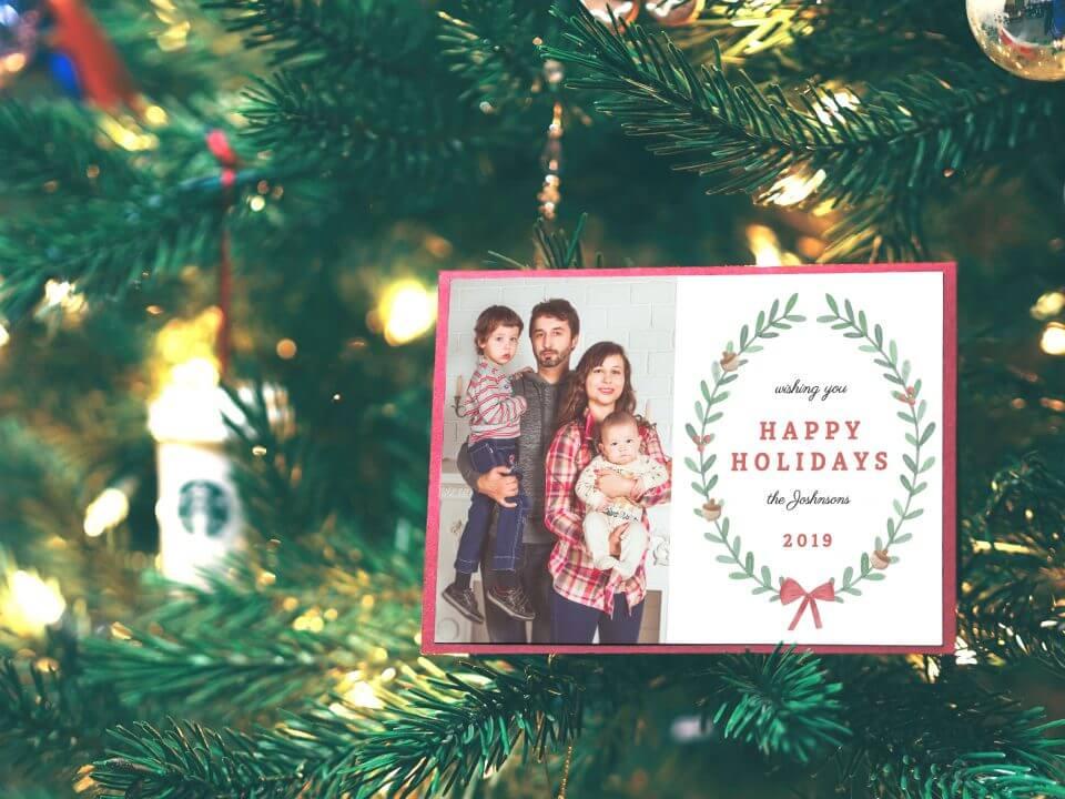 Happy Holidays family photo card