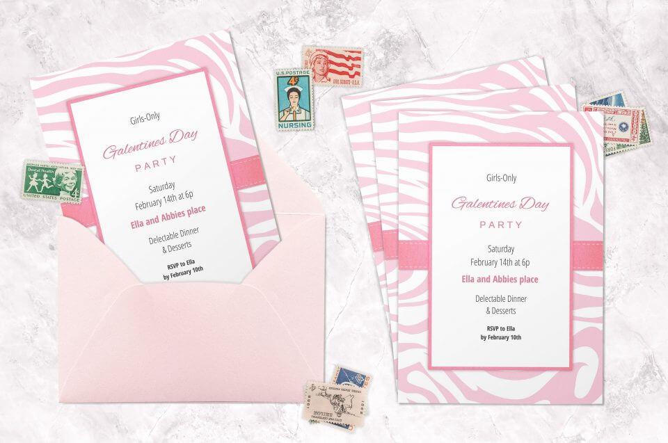 Galentine's day invitations
