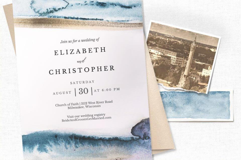 Modern Fluid - wedding invitation