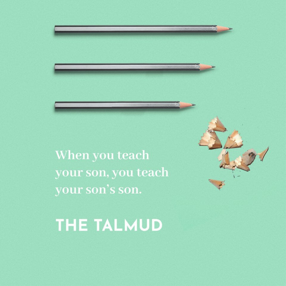 quote from the talmud thank you message appreciation for teachers educators