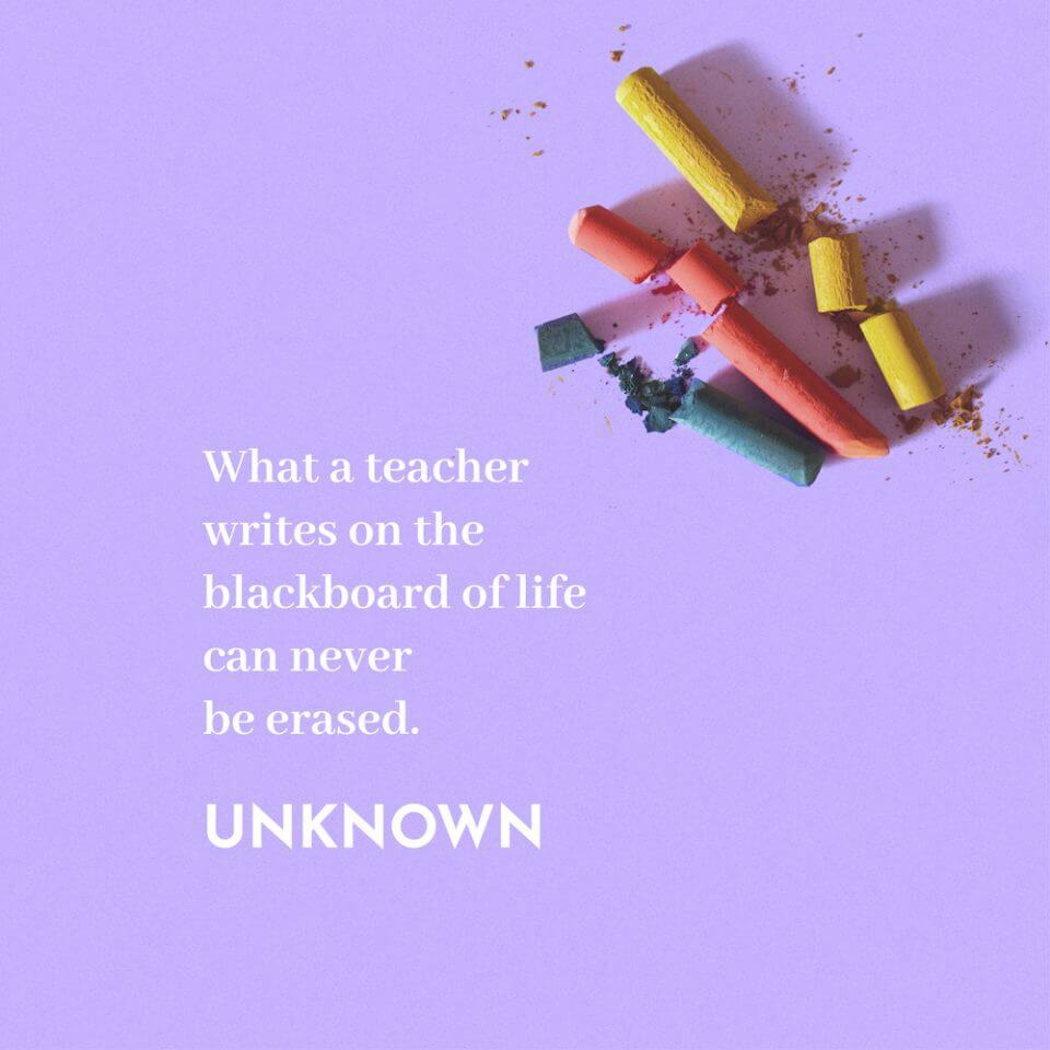 unknown anonymous quote thank you message appreciation for teachers educators
