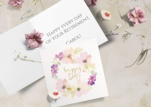 floral watercolor card Happy Retirement Wishes & Quotes