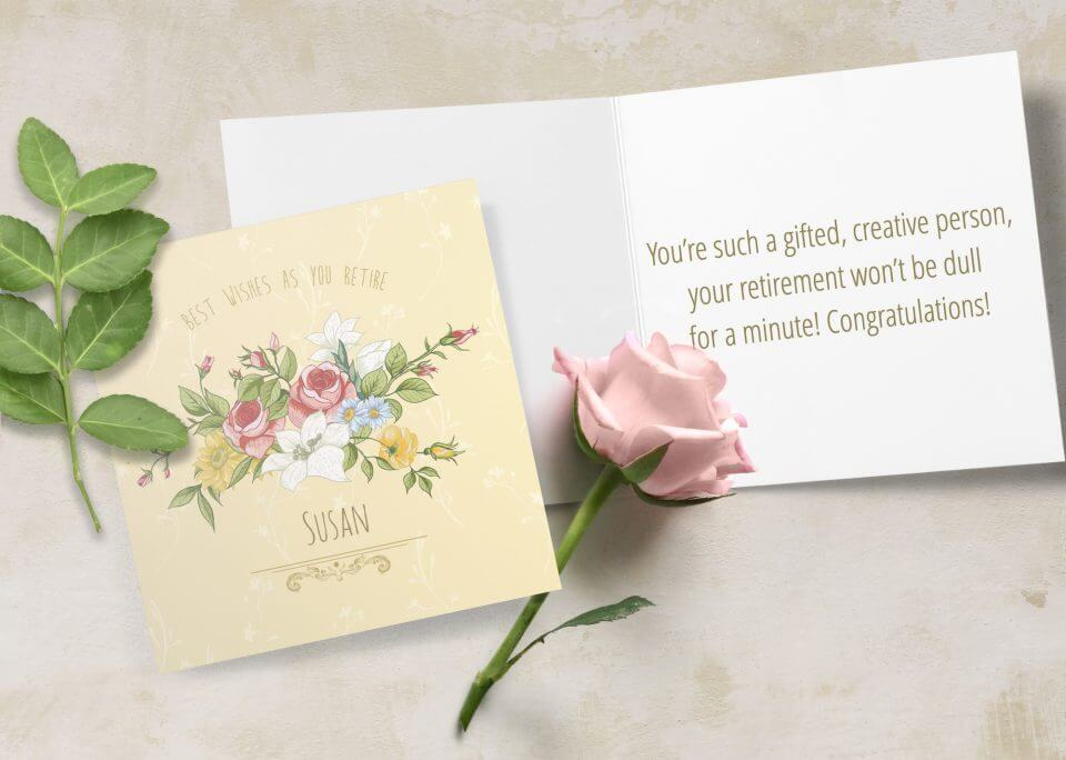 floral Happy Retirement Wishes messages