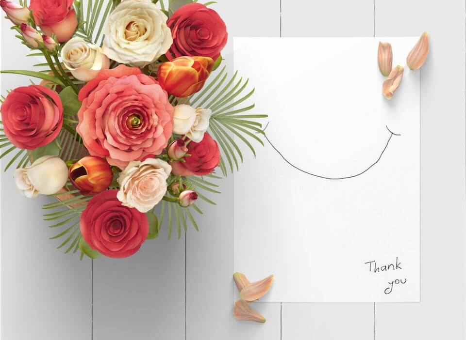 hand drawn smile Thank You Messages for a Gift