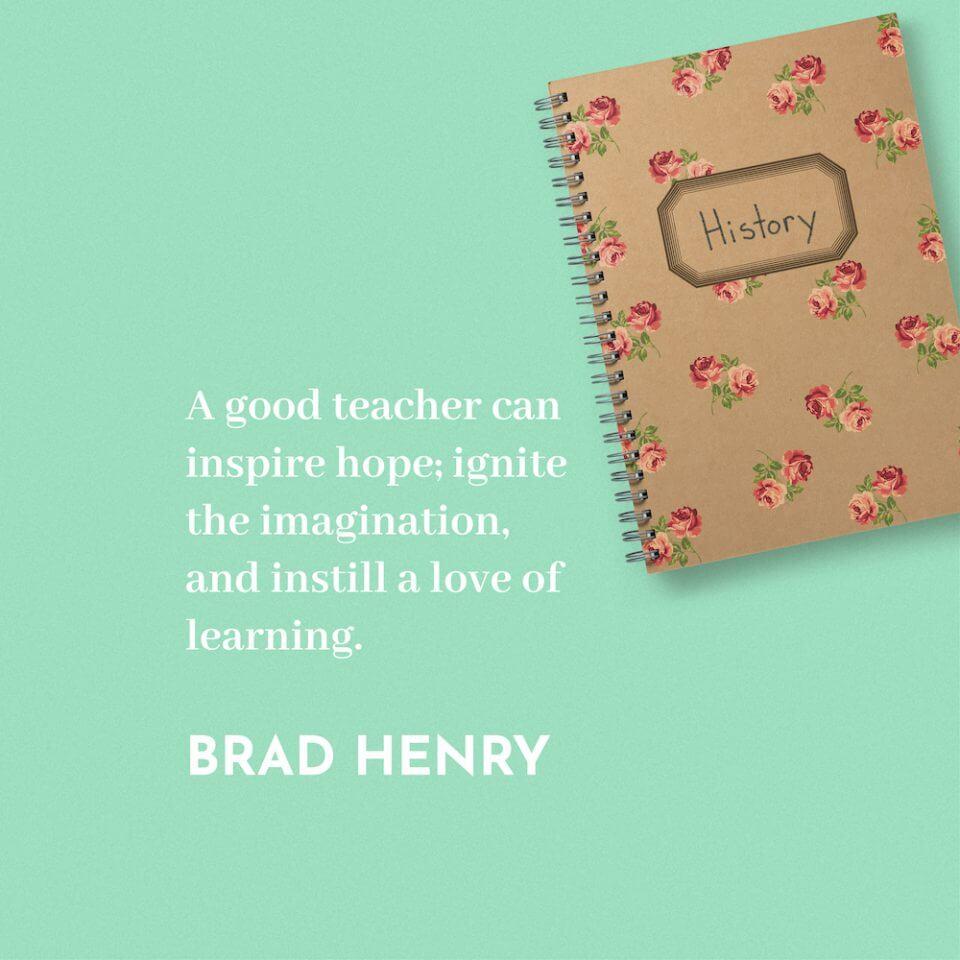 brad henry thank you message appreciation for teachers educators