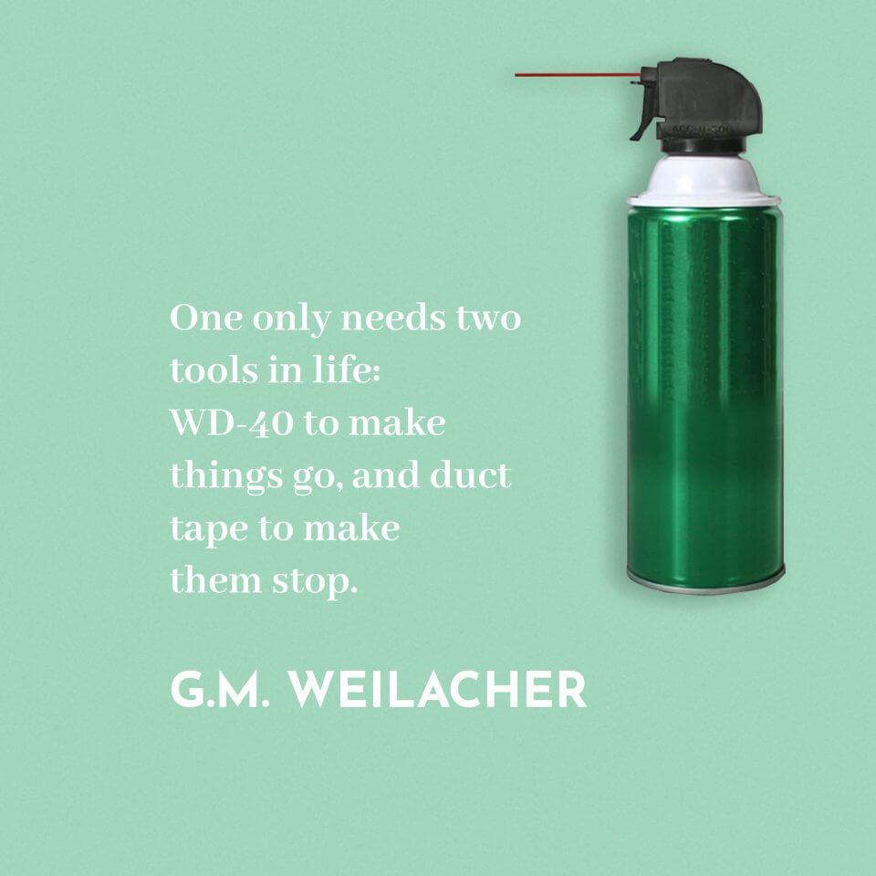 G.M. Weilacher quote