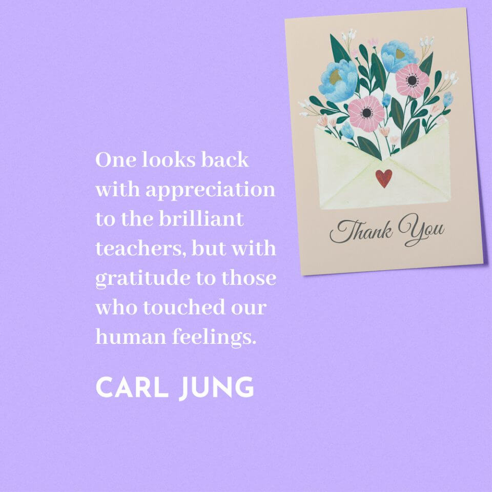 carl jung quote thank you message appreciation for teachers educators