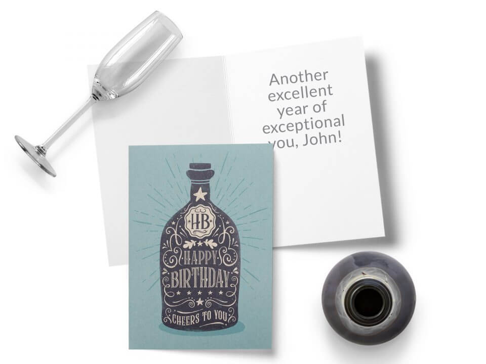 Birthday Wishes & Card Messages For Everyone old-timey bottle