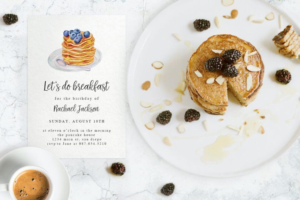 simple pancake brunch