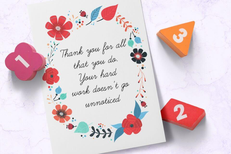 thank you for all that you do card for teachers educators appreciation