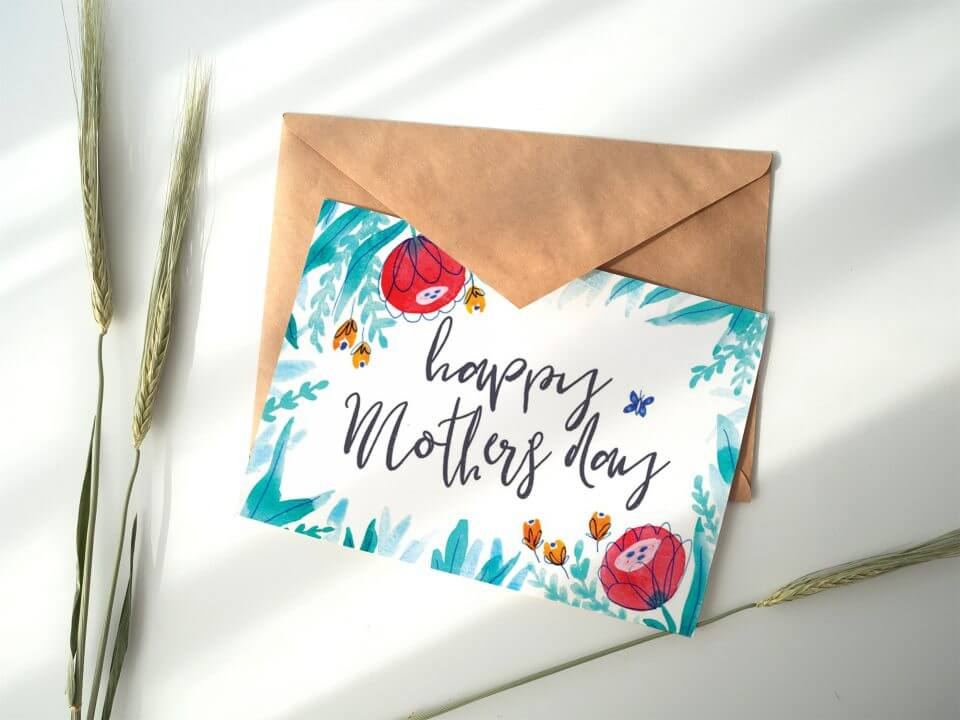 watercolor flowers mother's day messages for mother mom