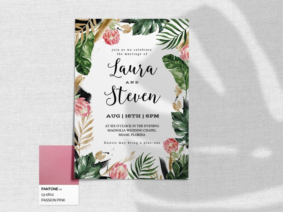 painterly tropical wedding invitation messages how to