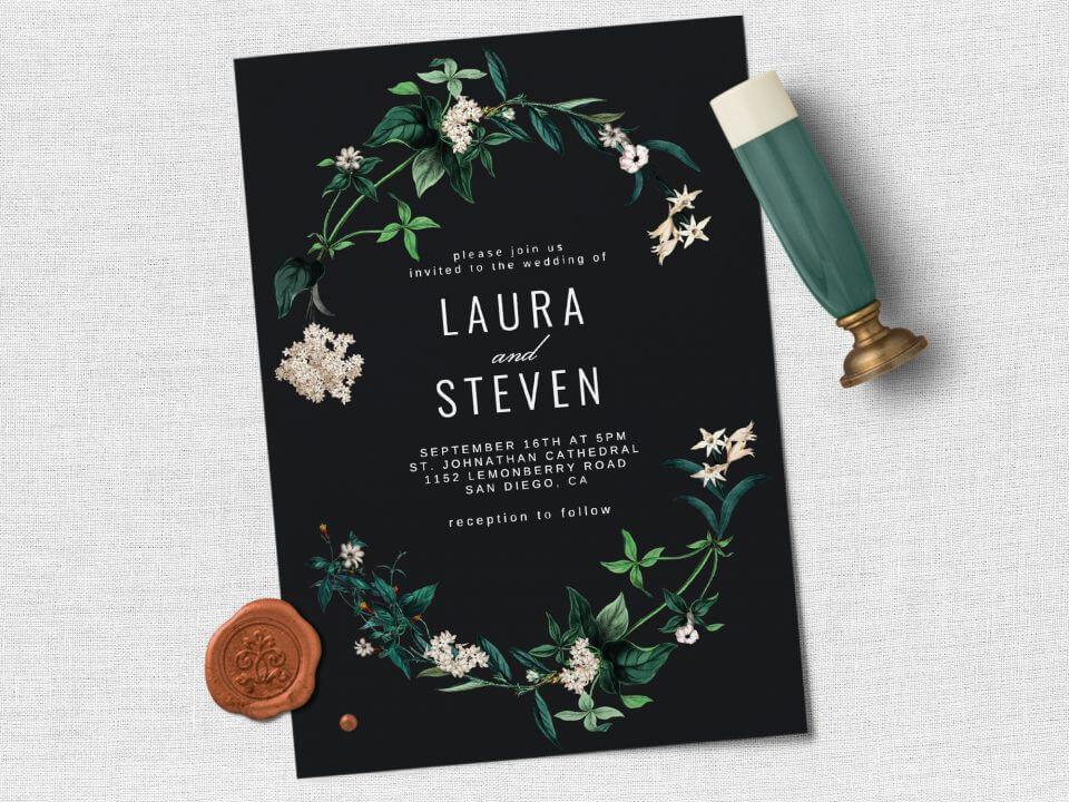 hydrangea wedding invite messages