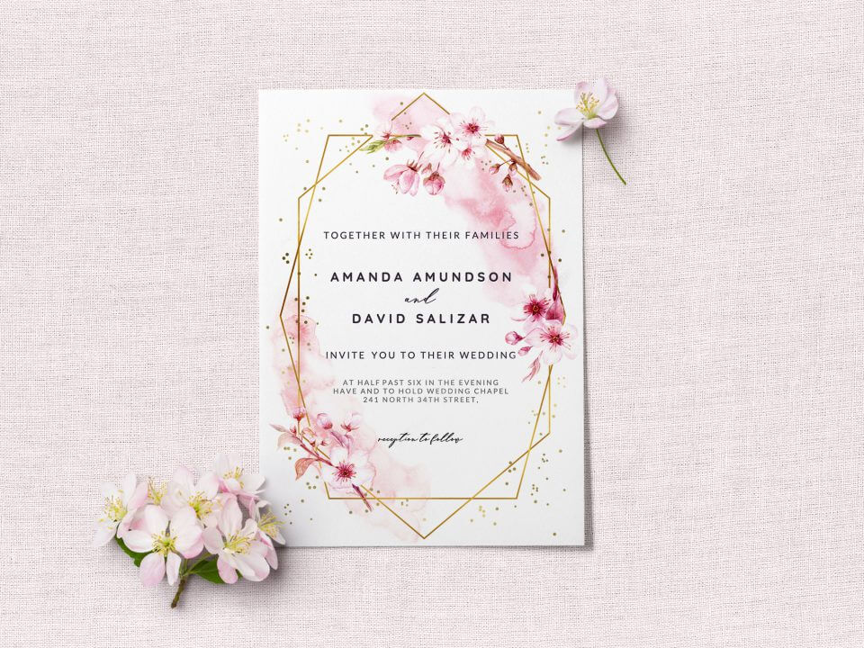 cherry blossom card wedding messages
