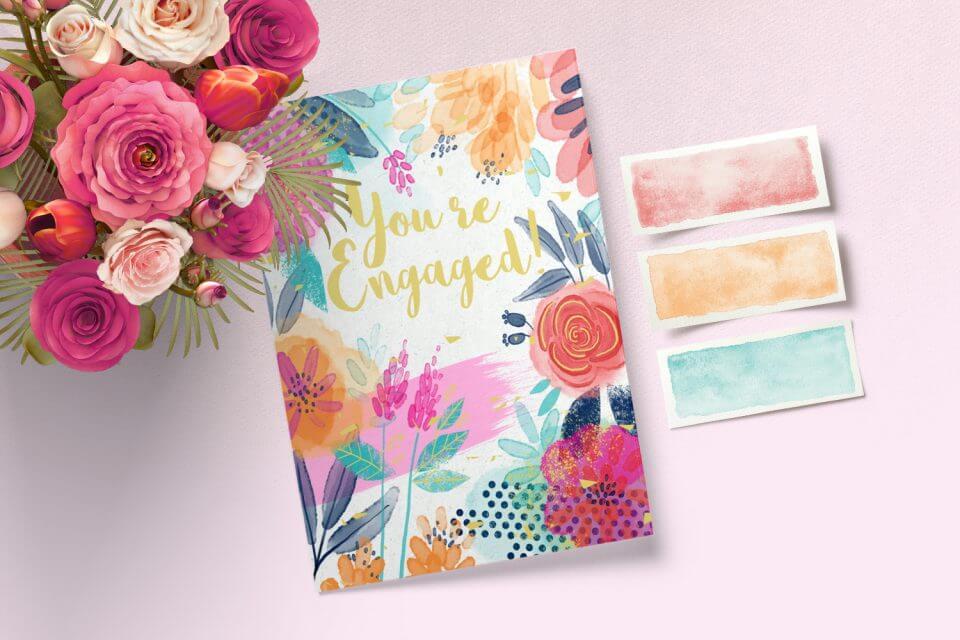 Floral Forward - Engagement Congratulations Card
