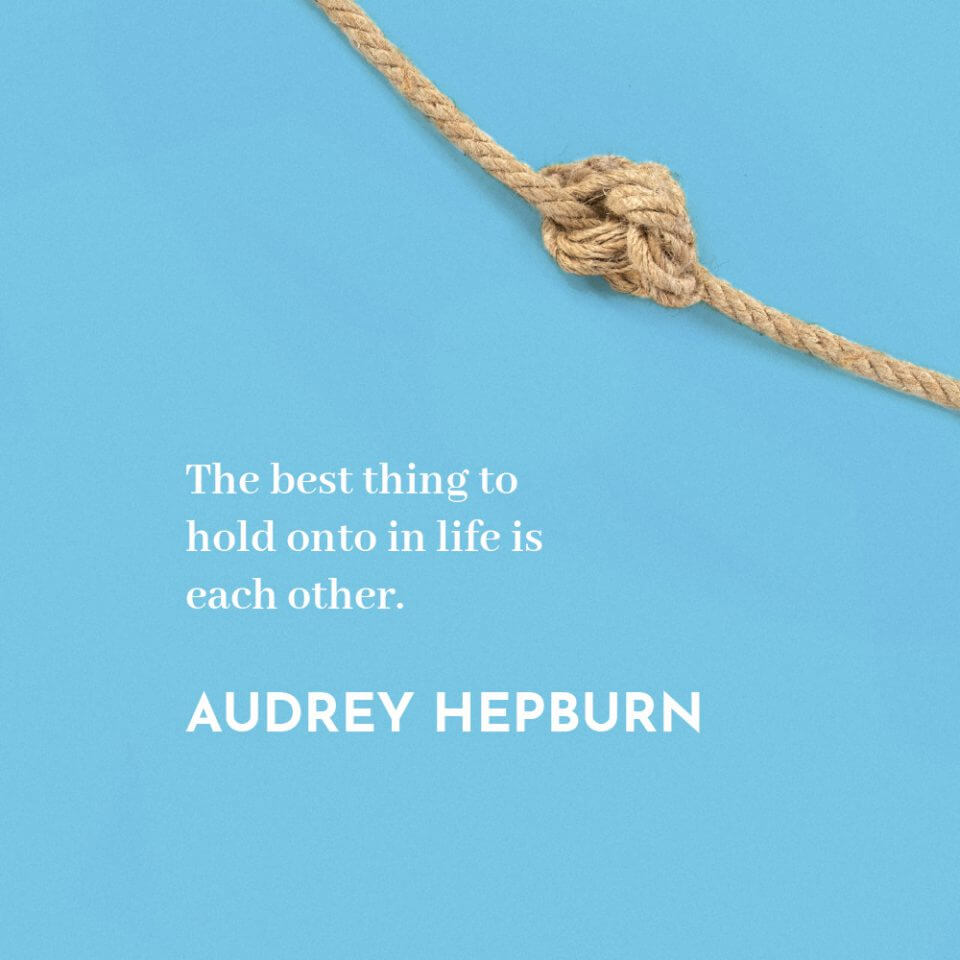 """""""A successful marriage requires falling in love many times, always with the same person."""" Quote by Audrey Hepburn"""