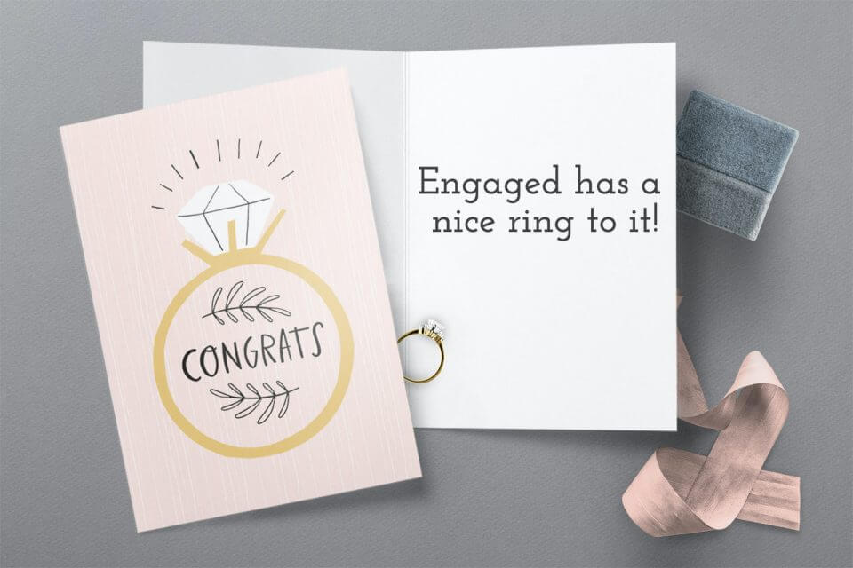 Nice Ring to It - Engagement Congratulations Card