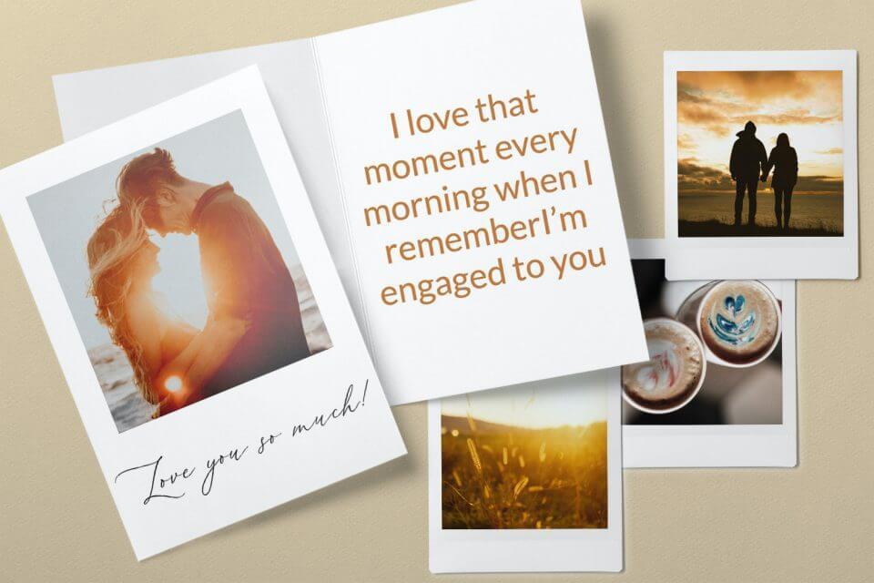 Polaroid - Engagement Congratulations Card