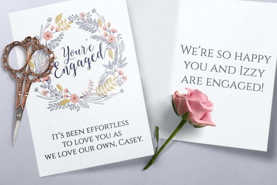 Full Hearts - Engagement Congratulations Card